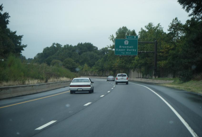 Picture Of The Broomall Exit When Driving Down I476