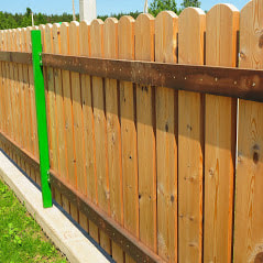 Custom Wood Fence Repairs By Delco Fencing Per The Customers Request