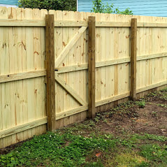 A Picture Of A New Fully Custom Wooden Fence The Home Owner Provided The Wood And Material And We Built It To Spec Delco Fencing