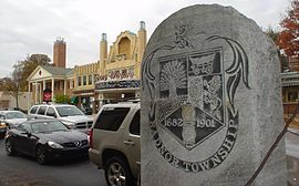A Picture Of Radnor Township Stone In The Town Center Taken By Delaware County Fencing