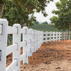 A Picture Of A White Vinyl Split Rail Fence Installed For Animals On A Small Farm To Help Contain Animals And Keep A Nice Look And Last For A Lifetime In Newtown Square Pa