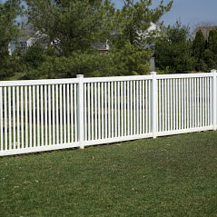 A Picture Of A Small Iron White Fence For A Customers Custom Install For Delco Fencing In West Chester Pa