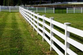 A Picture Of A White Wooden Fence Split Rail For Horses In Newtown Square Pa Built By Delco Fencing
